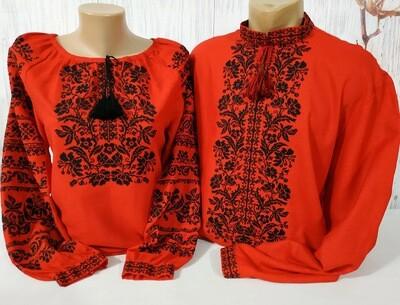 Пара вишиванок, жіноча та чоловіча вишиванка - комплект вишиванок для чоловіка і жінки (Арт. 02530)