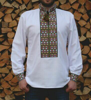 Вишиванка, чоловіча вишита сорочка (Арт. 00021)