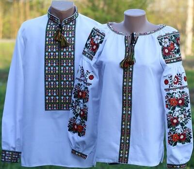 Пара вишиванок, жіноча та чоловіча вишиванка - комплект вишиванок для чоловіка і жінки (Арт. 02602)