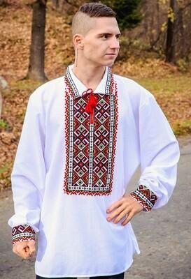 Вишиванка чоловіча, гуцульська вишита сорочка