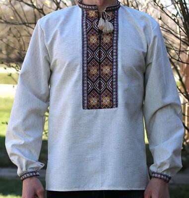 Вишиванка ручної роботи, чоловіча сорочка