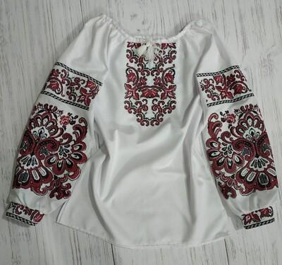 Вишиванка, жіноча вишивана блузка на домотканому (Арт. 02631)