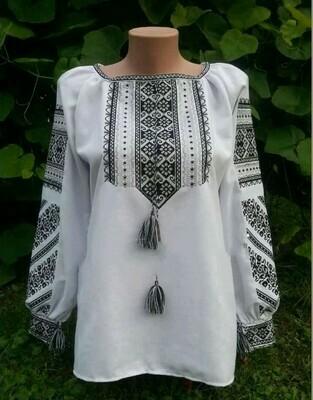 Вишиванка, жіноча вишивана блузка (Арт. 02640)