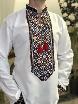 Вишиванка, чоловіча вишита сорочка (Арт. 02654)