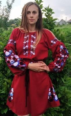 Вишиванка жіноча, сукня вишивана