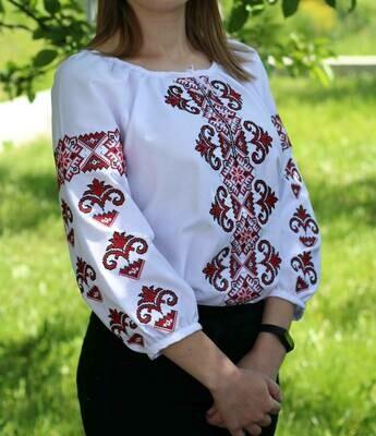 Вишиванка, жіноча вишивана блузка на домотканому (Арт. 02667)
