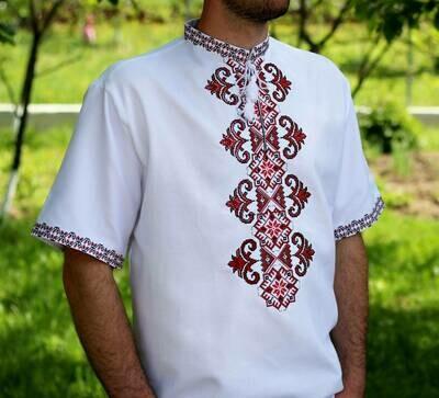 Вишиванка, чоловіча вишита сорочка (Арт. 02668)