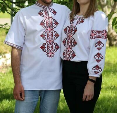 Пара вишиванок, жіноча та чоловіча вишиванка. Комплект вишиванок (Арт. 02669)