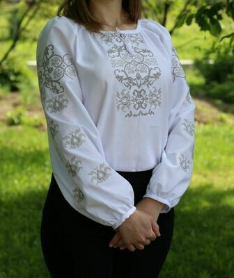 Вишиванка, жіноча вишивана блузка на домотканому (Арт. 02671)