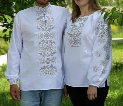 Пара вишиванок, жіноча та чоловіча вишиванка. Комплект вишиванок (Арт. 02672)