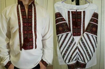 Пара вишиванок, жіноча та чоловіча вишиванки - комплект вишиванок для чоловіка і жінки (Арт. 02675)