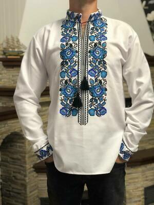 Вишиванка, чоловіча вишита сорочка (Арт. 02676)