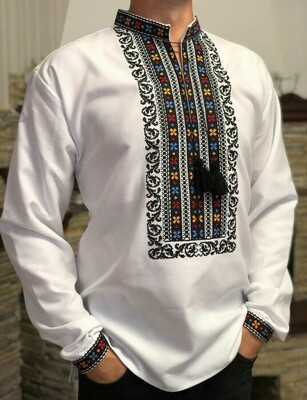 Вишиванка, чоловіча вишита сорочка (Арт. 02703)
