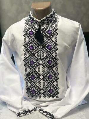Вишиванка, чоловіча вишита сорочка (Арт. 02705)