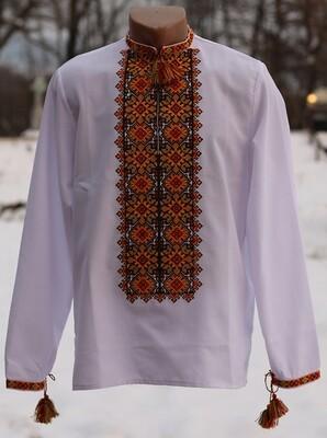 Вишиванка, чоловіча вишита сорочка (Арт. 02774)