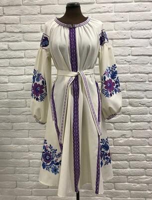 Вишиванка, жіноча вишивана сукня (Арт. 02784)