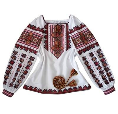 Вишиванка, жіноча вишивана блузка на домотканому полотні (Арт. 02797)