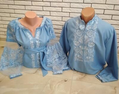 Пара вишиванок, жіноча та чоловіча вишиванка - комплект вишиванок для чоловіка і жінки (Арт. 02802)