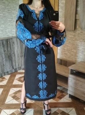Вишиванка, жіноча вишивана сукня (Арт. 02804)