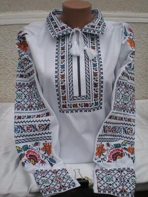 Вишиванка, жіноча вишивана блузка на домотканому полотні (Арт. 02818)