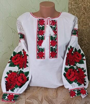 Вишиванка, жіноча вишивана блузка (Арт. 02832)