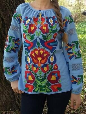 Вишиванка, жіноча вишивана блузка на домотканому полотні (Арт. 02839)