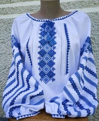 Вишиванка, жіноча вишивана блузка на домотканому полотні (Арт. 02841)