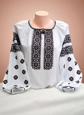 Вишиванка, жіноча вишивана блузка на домотканому полотні (Арт. 02845)