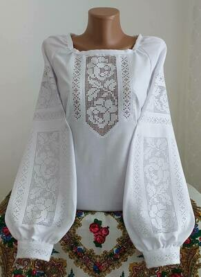 """Вишиванка, жіноча вишивана блузка на домотканому полотні """"Мережка"""" (Арт. 02853)"""