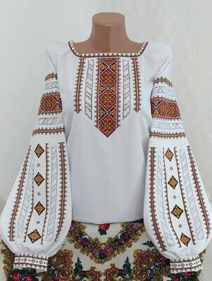 """Вишиванка, жіноча вишивана блузка на домотканому полотні """"Мережка"""" (Арт. 02856)"""