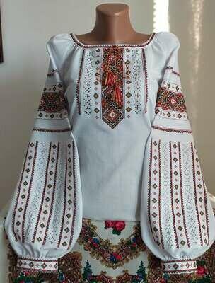"""Вишиванка, жіноча вишивана блузка на домотканому полотні """"Мережка"""" (Арт. 02860)"""