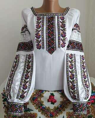 """Вишиванка, жіноча вишивана блузка на домотканому полотні """"Мережка"""" (Арт. 02854)"""