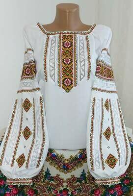 """Вишиванка, жіноча вишивана блузка на домотканому полотні """"Мережка"""" (Арт. 02855)"""