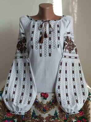 """Вишиванка, жіноча вишивана блузка на домотканому полотні """"Мережка"""" (Арт. 02861)"""