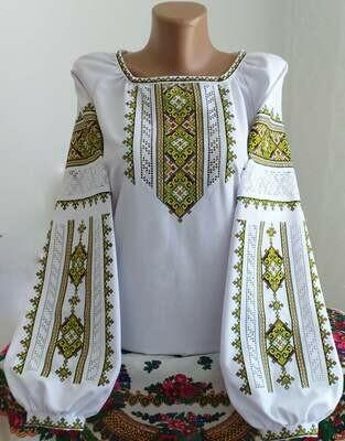 """Вишиванка, жіноча вишивана блузка на домотканому полотні """"Мережка"""" (Арт. 02862)"""