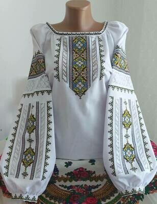 """Вишиванка, жіноча вишивана блузка на домотканому полотні """"Мережка"""" (Арт. 02863)"""