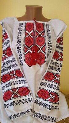 Вишиванка, жіноча вишивана блузка на домотканому полотні (Арт. 02867)