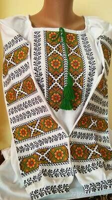 Вишиванка, жіноча вишивана блузка на домотканому полотні (Арт. 02869)