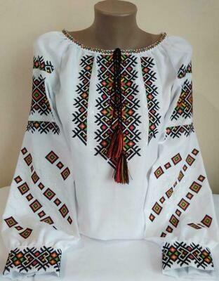 Вишиванка, жіноча вишивана блузка (Арт. 02873)