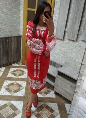 "Вишиванка, жіноча вишивана сукня ""Бохо""(Арт. 02881)"