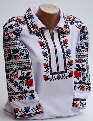 Вишиванка, жіноча вишивана блузка на домотканому полотні (Арт. 02887)