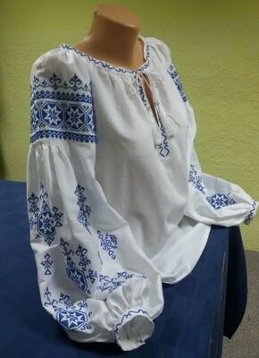 """Вишиванка, жіноча вишивана блузка на домотканому полотні """"Бохо"""" (Арт. 02889)"""