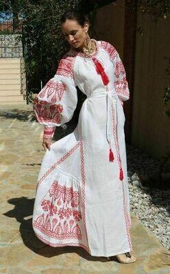 "Вишиванка жіноча, сукня вишивана ""Бохо"" (Арт. 02890)"