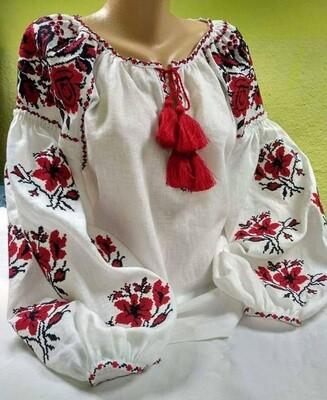 """Вишиванка, жіноча вишивана блузка на домотканому полотні """"Бохо"""" (Арт. 02899)"""