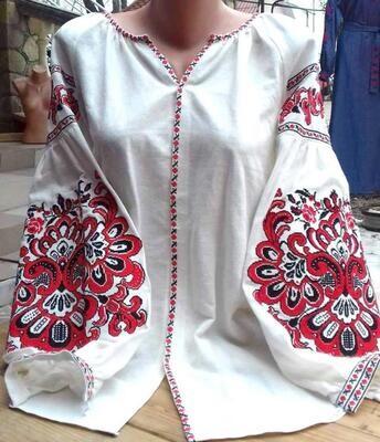 """Вишиванка, жіноча вишивана блузка на домотканому полотні """"Бохо"""" (Арт. 02902)"""
