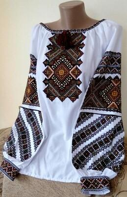 """Вишиванка, жіноча вишивана блузка """"Гуцульська"""" (Арт. 02904)"""