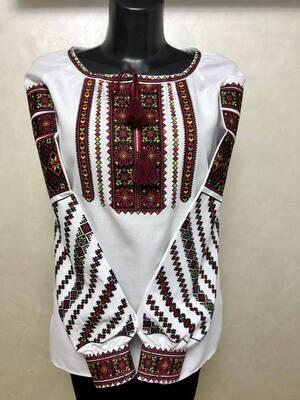 """Вишиванка, жіноча вишивана блузка """"Борщівська"""" (Арт. 02907)"""