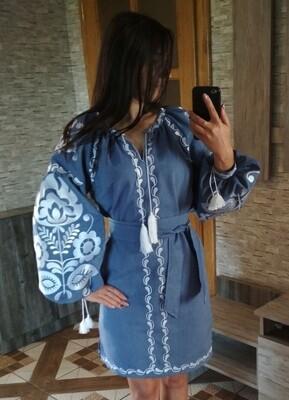 "Вишиванка жіноча, сукня вишивана ""Бохо"" (Арт. 02929)"