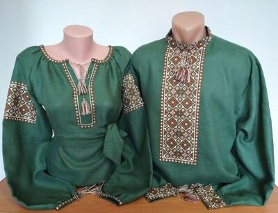 Пара вишиванок, жіноча та чоловіча вишиванка - комплект вишиванок для чоловіка і жінки (Арт. 02931)