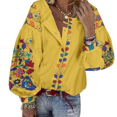 Вишиванка, жіноча вишивана блузка на домотканому полотні (Арт. 02932)
